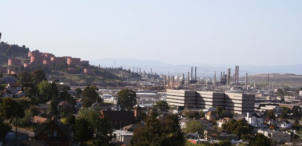 Panorama of Chevron refinery.