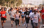More than 200 people ran or walked in the Home Front Run on Saturday. (Photo by: Corey Rose)