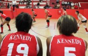Kennedy players looking on